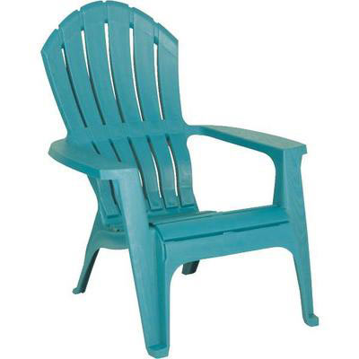 Outdoor Adirondack turquoise chair