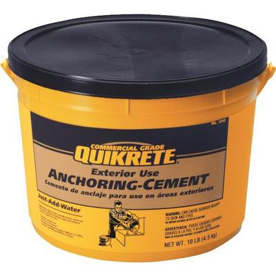 Container Quikrete exterior use anchoring cement