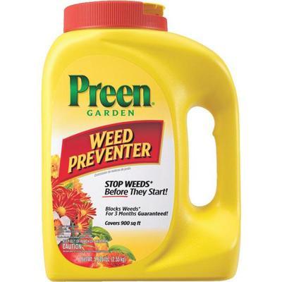 Jug of Preen garden weed preventer