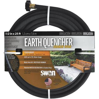 Earth Quencher black garden hose, ½ in x 25 ft