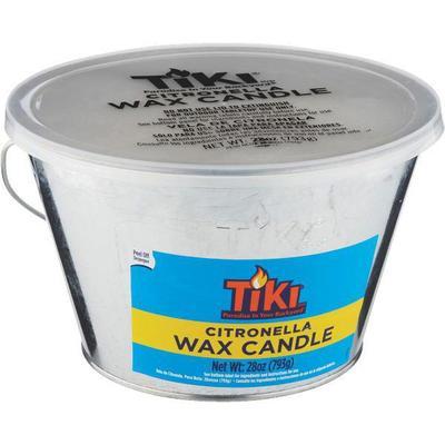Tiki citronella wax candle