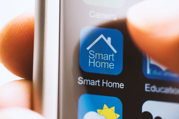 Close up of Smart Home program on a smart phone