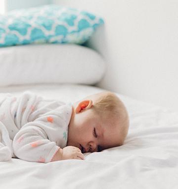 Adorable sleeping infant