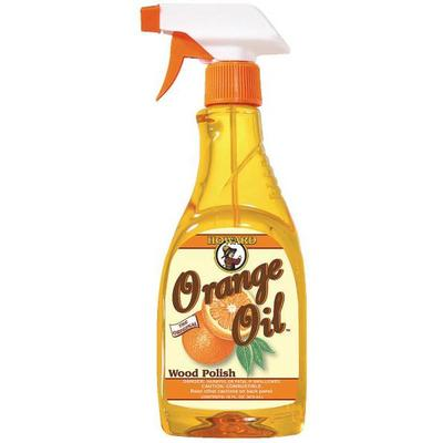 Orange Oil spray bottle to clean and polish all wood surfaces