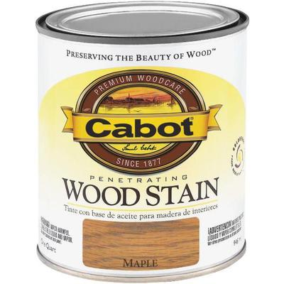 Gallon can of Cabot maple wood stain