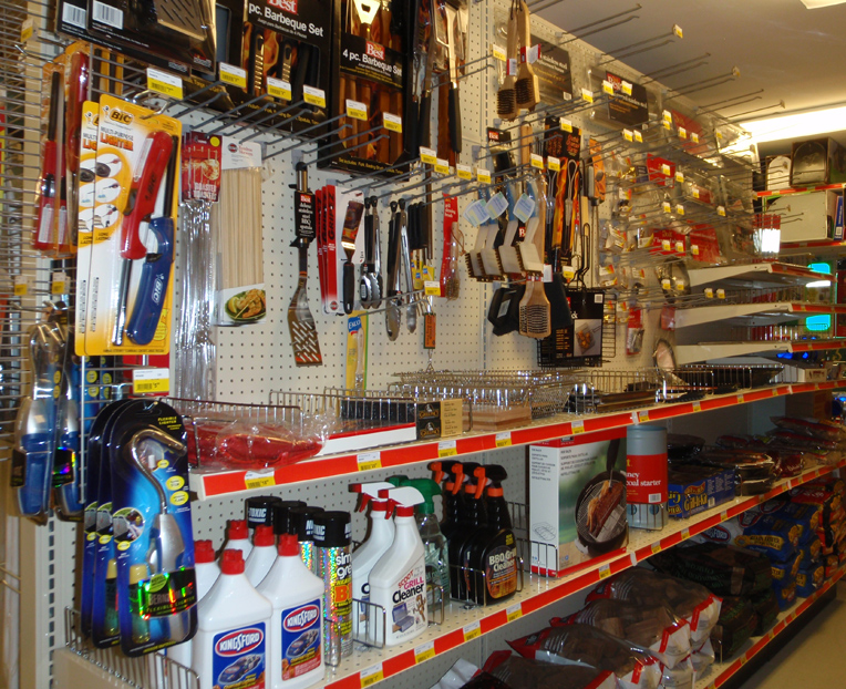 Woodstock Hardware aisle filled with BBQ and Grill supplies and necessities