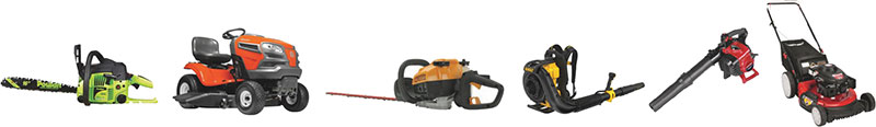 6 small engines including blower, chain saw, mowers