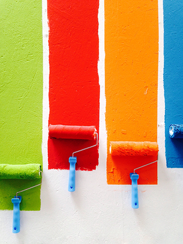 Painting walls bright fun colors